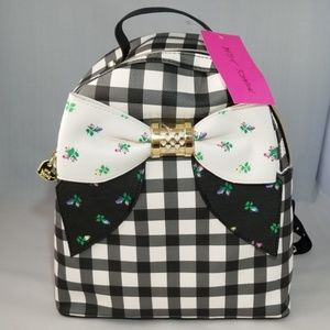 Adorable Betsey Johnson backpack black and white